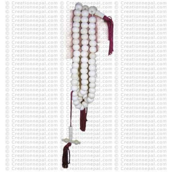 Plain white beads Mala