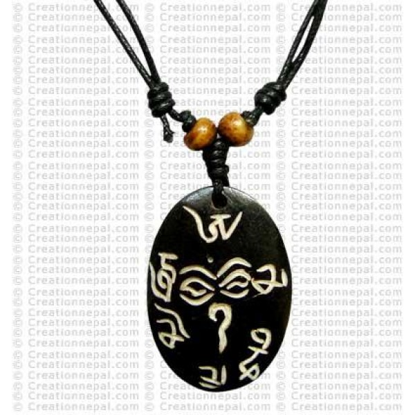 Buddha-eye Om Mane mantra Amulet