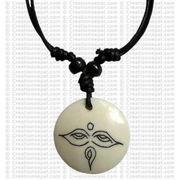 Buddha-eye white Amulet