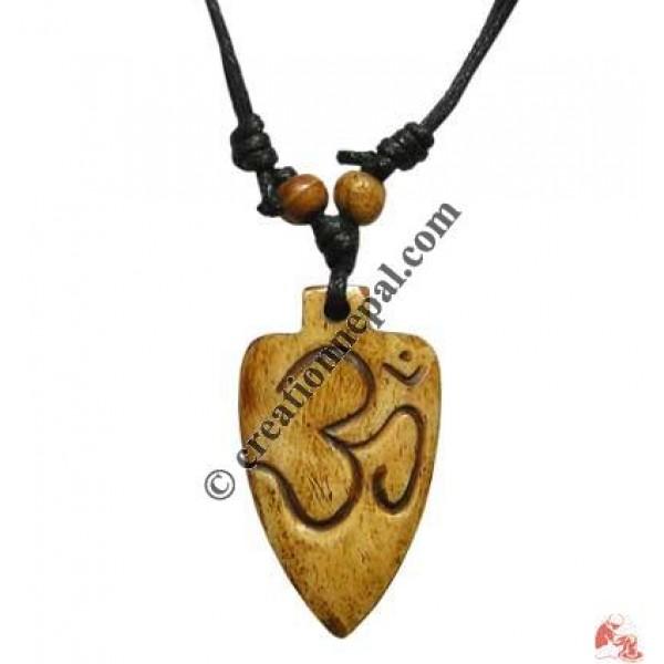 Sanskrit OM carved pendant 1