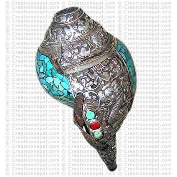 Silver-turq Conch