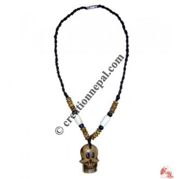 Cranium pendant necklace