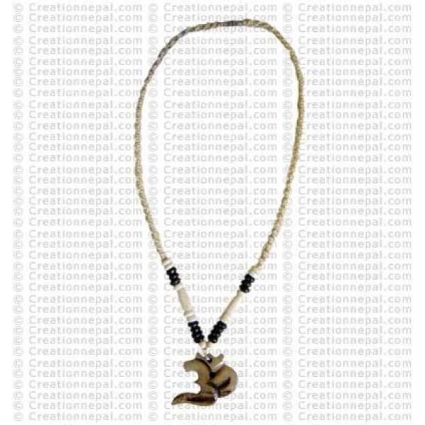 Sanskrit Om carved pendant