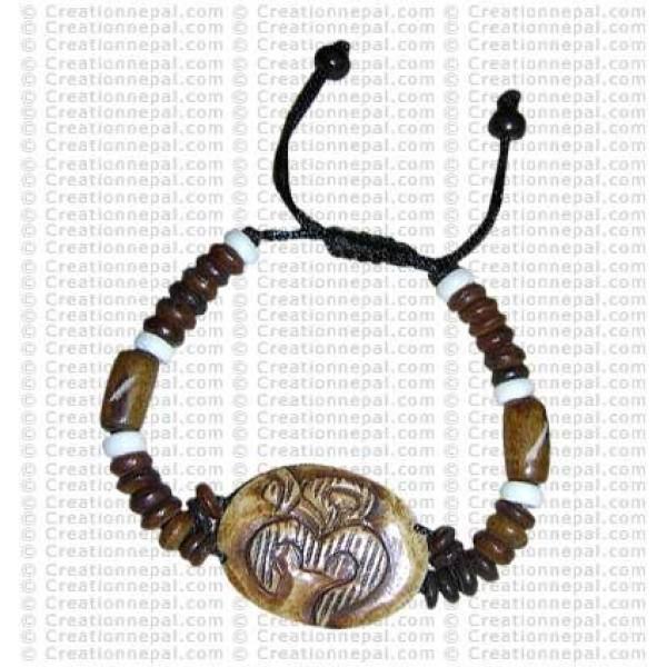 Lined Om bracelet