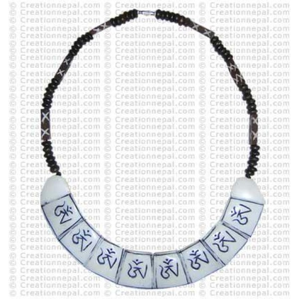Om bone necklace 8