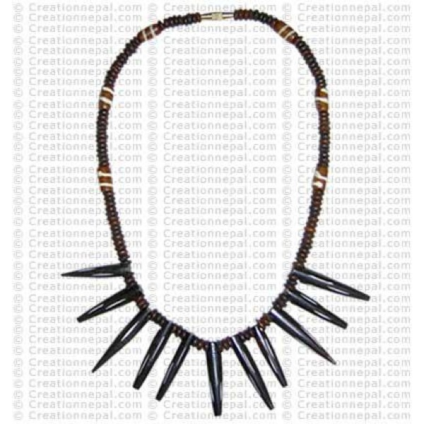 Pin shape necklace 1