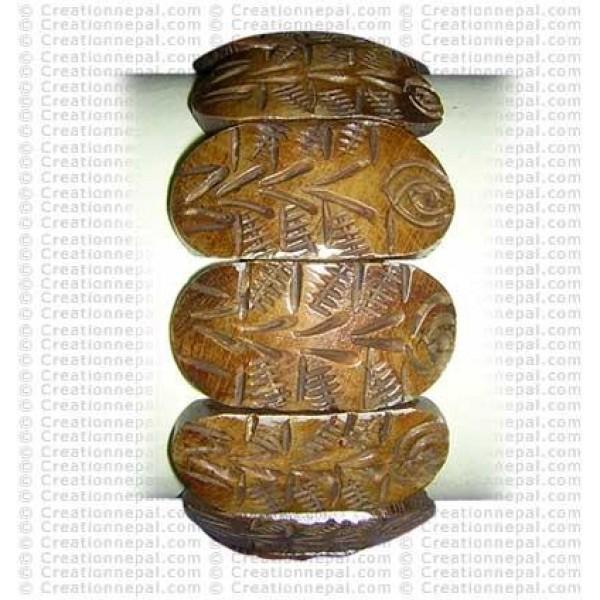 Pine tree-flower bracelet