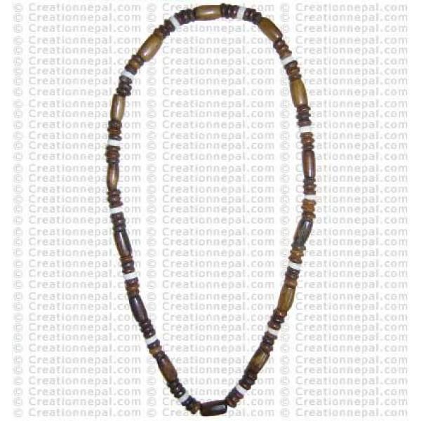 Bone beads necklace1