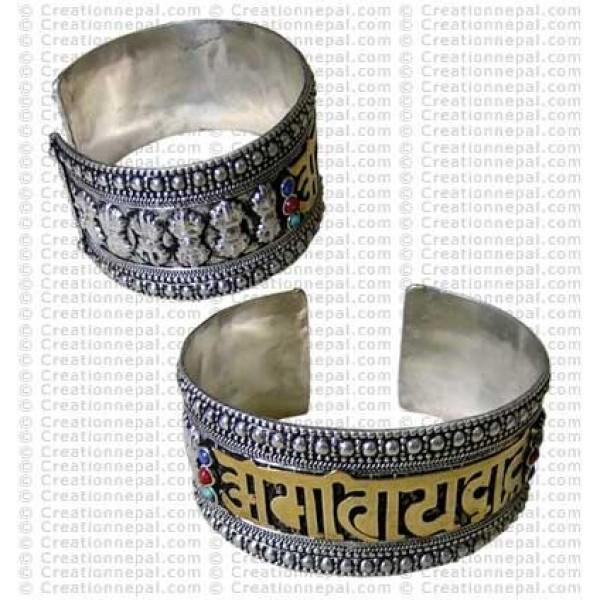 Golden letter bangle