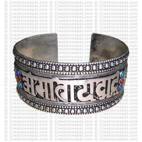 White-metal wide bracelet3