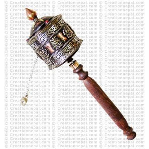Astamangal prayer wheel