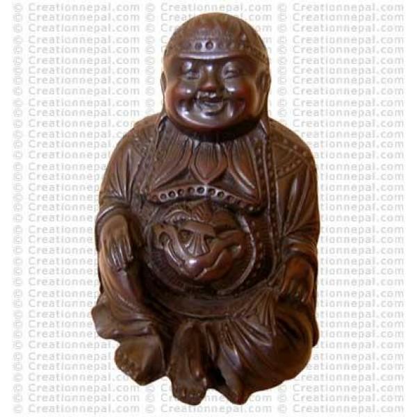 Laughing sitting-Buddha