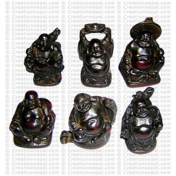 Tiny Laughing Buddha4 (set of 6)
