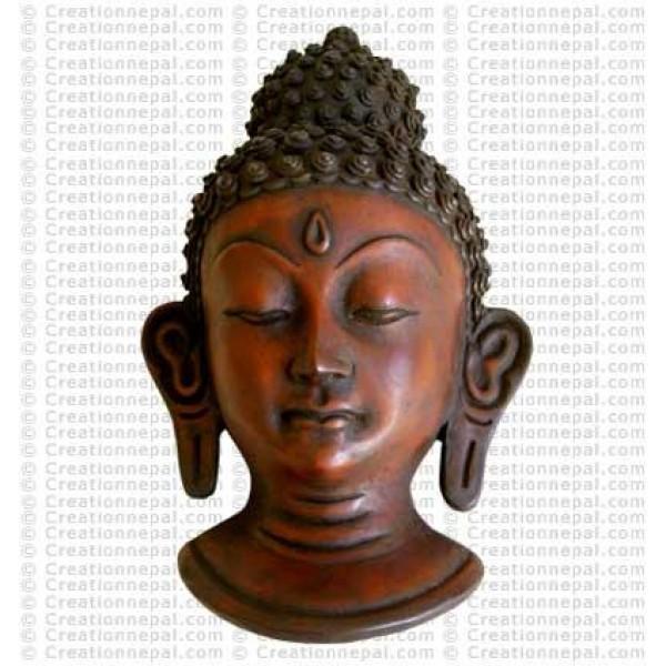 Buddha head wall-mask