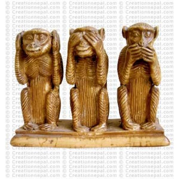 Ivory color monkey set