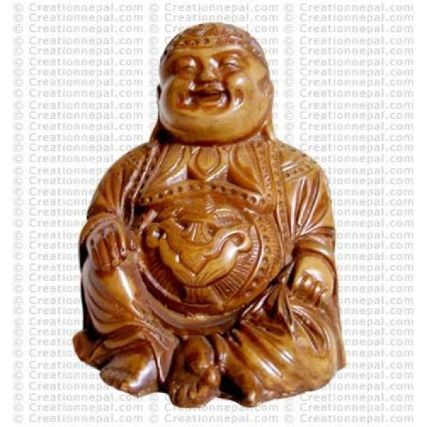 Ivory color laughing Buddha