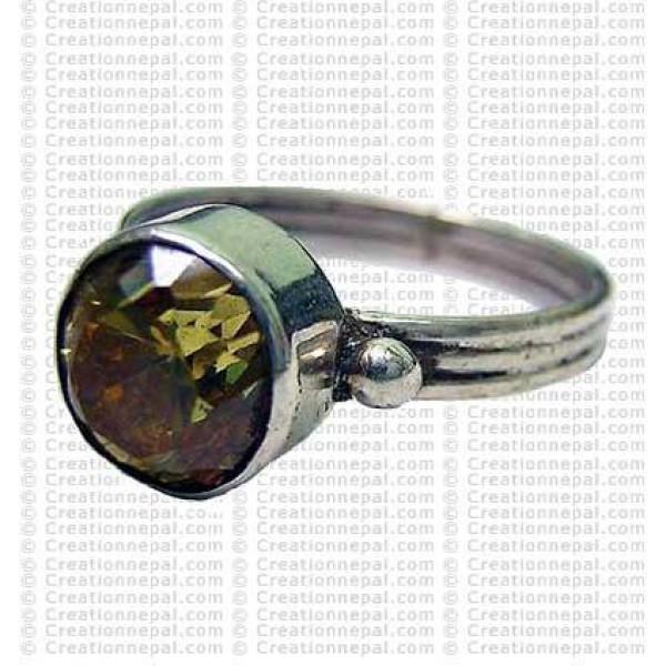 Yello topaz stone finger ring