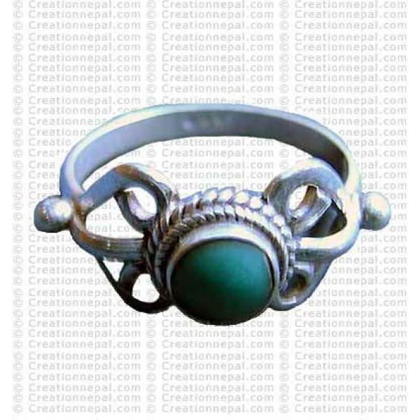 Turquoise stone finger ring 11