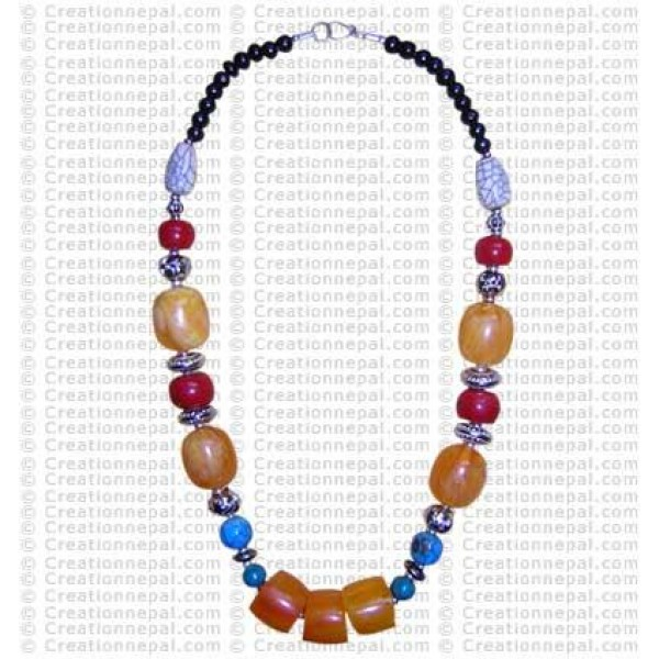 Mixed beads necklace1