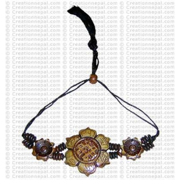 Endless-knot lotus bracelet