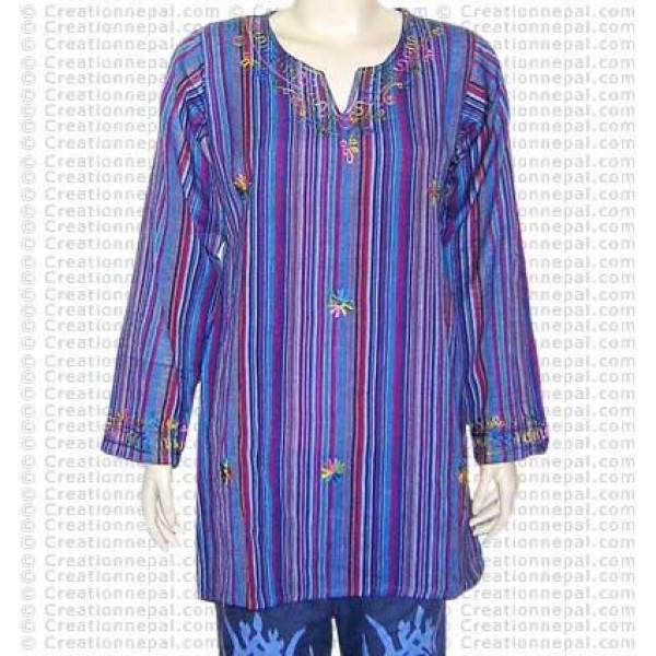 Stripped cotton dress-44