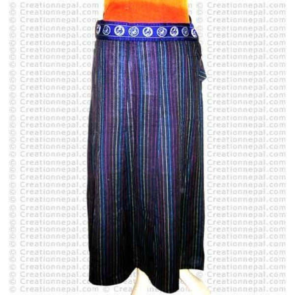 Sewn desin long skirt-19