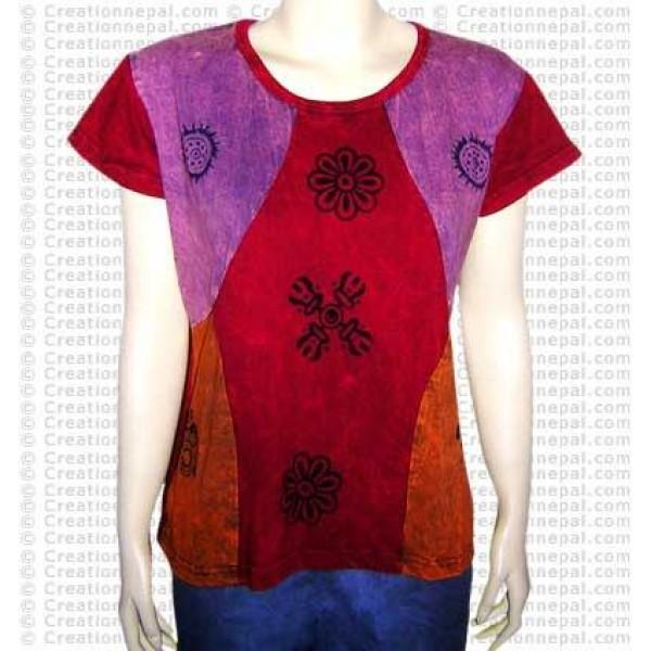 Joined Dorje-Om rib t-shirt