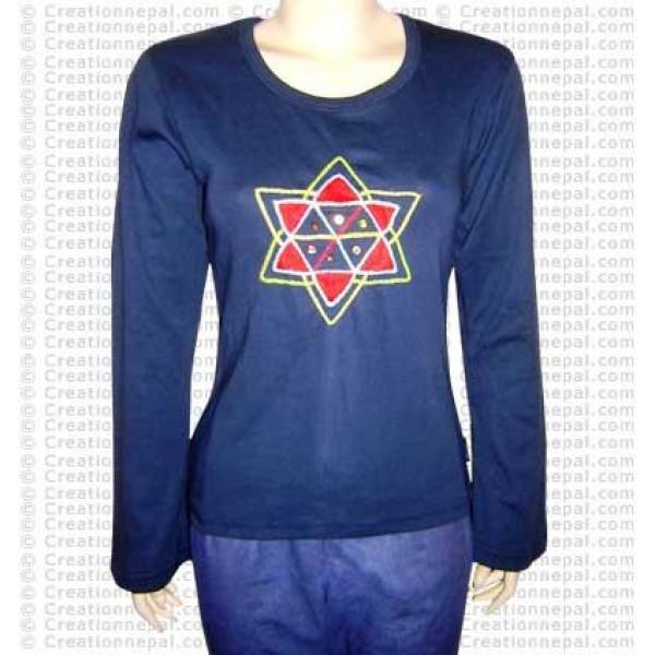 Crochet star rib tshirt