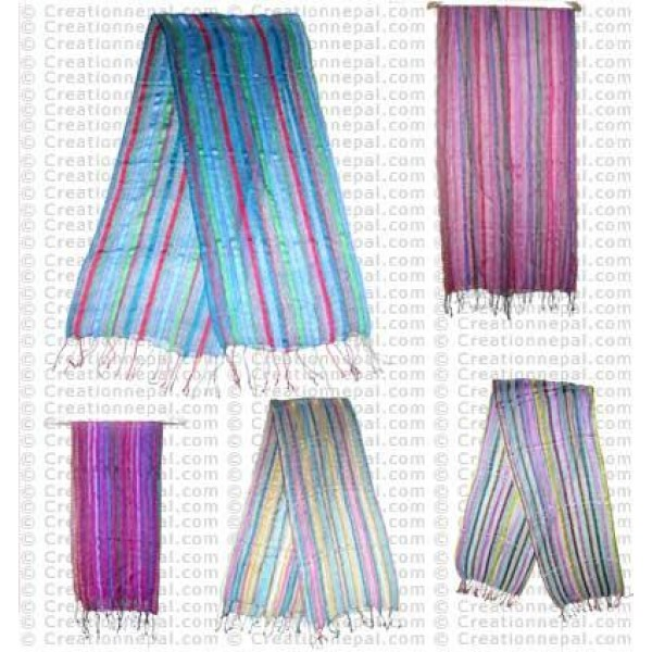Cotton loose knit scarf 23