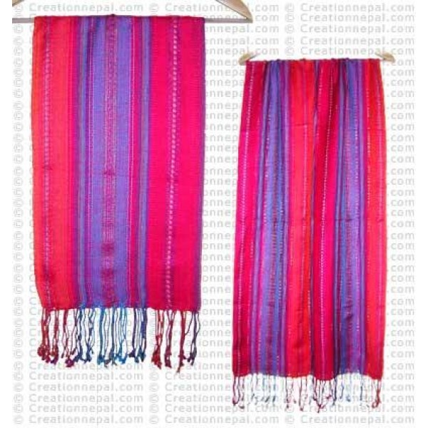 Alternate loose stripes cotton scarf119