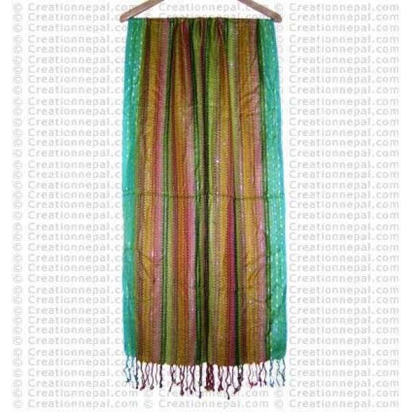 Dhaka design jari mixed cotton scarf88