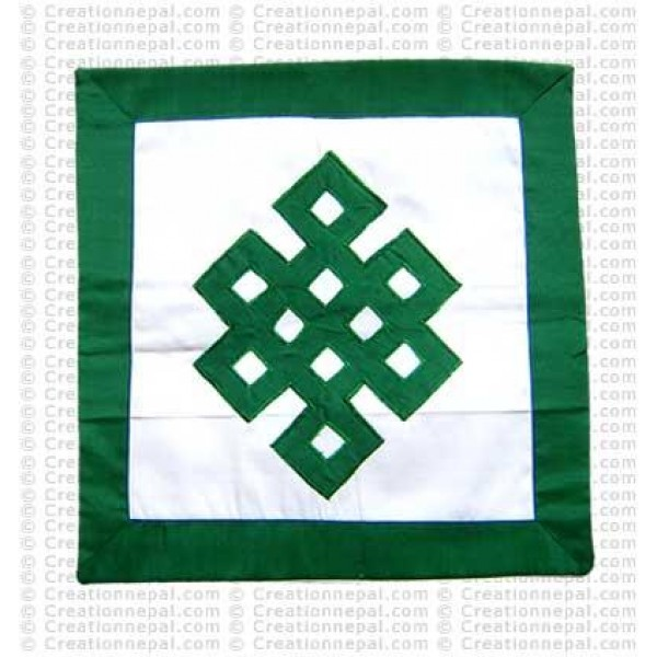 Patch-work knot cushion cover2