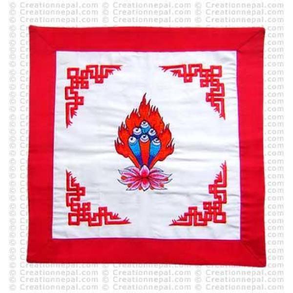 Embroidered Padma cushion cover