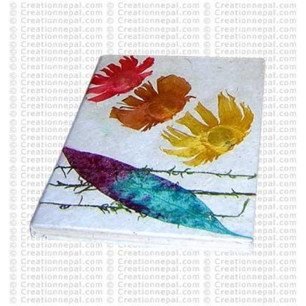 Leaf and flowers notebook-1
