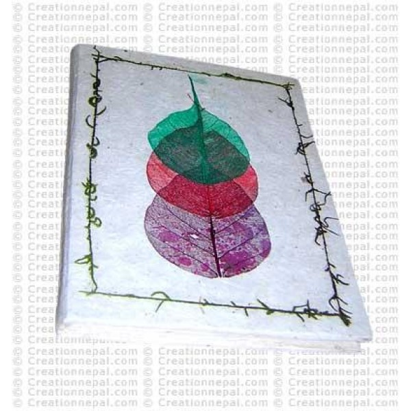 Three Bodhi leaf notebook-1