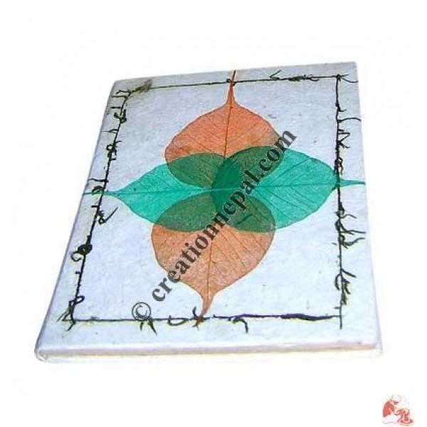 Four Bodhi leaf notebook