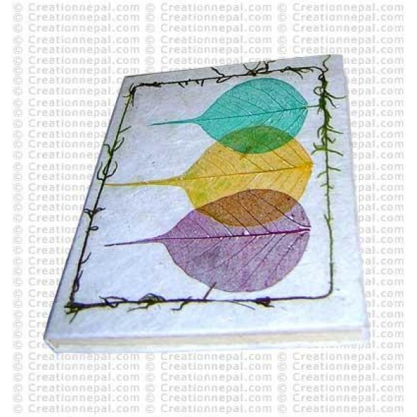 Three Bodhi leaf notebook-2