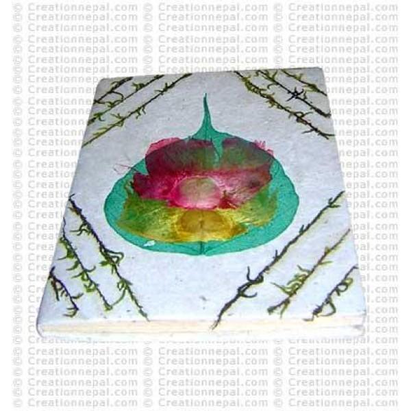 Moss decoration Bodhi leaf notebook