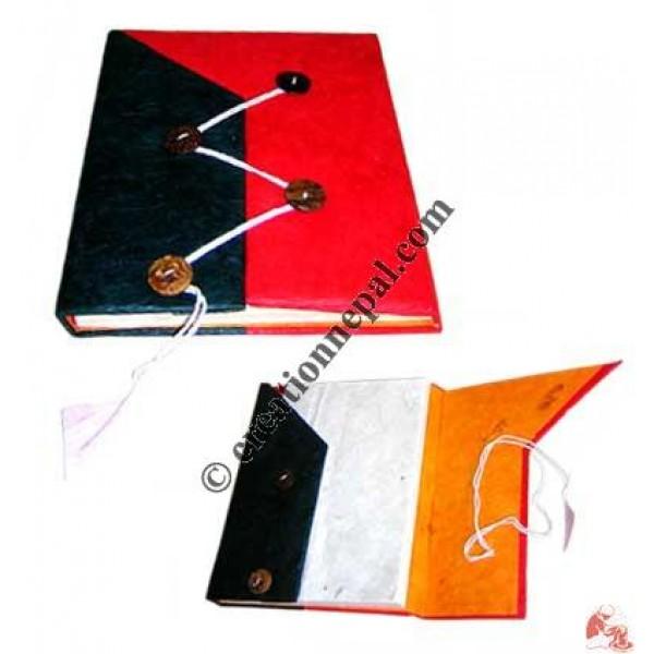 Four button folding notebook
