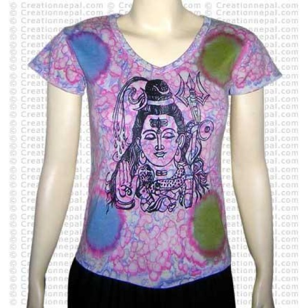 Shiva print rib t-shirt