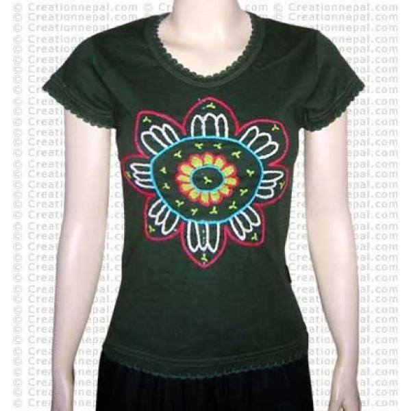 Crochet sun rib t-shirt
