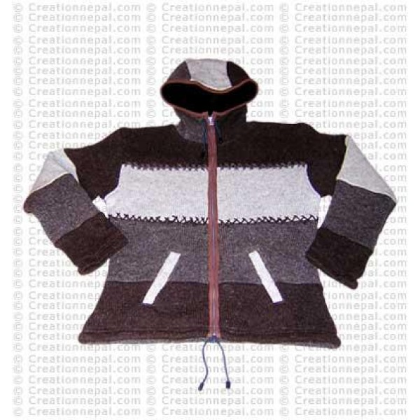 Four stripes woolen jacket