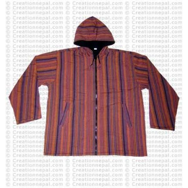 Stripes cotton jacket