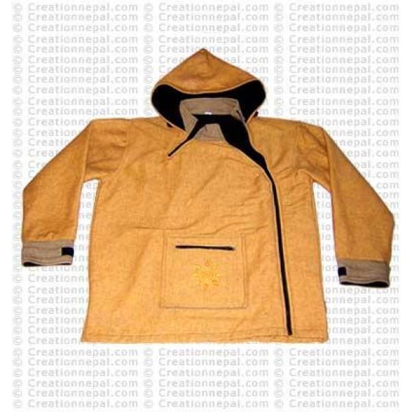 Side-zipper cotton jacket