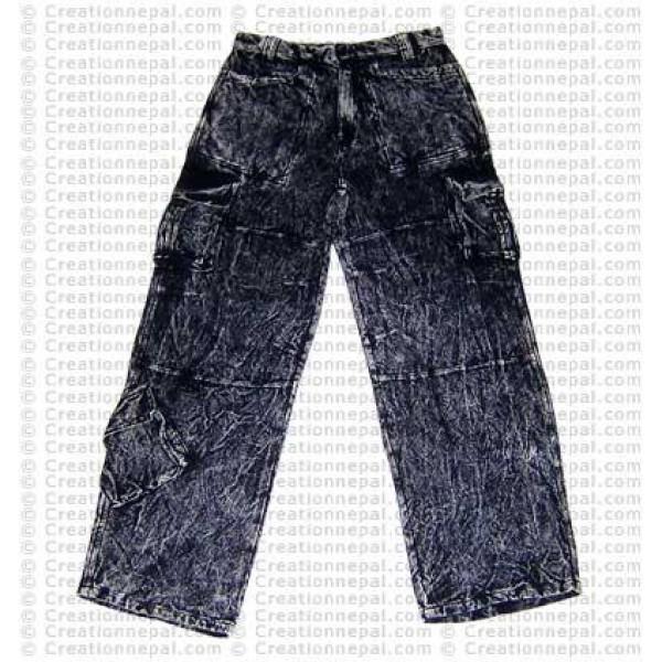 Cotton stonewash trouser