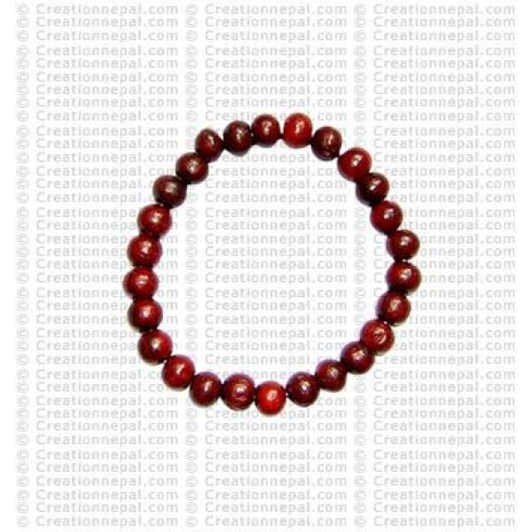 8 mm beads rosewood wristband