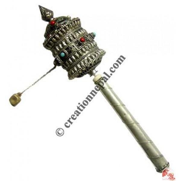 Om Mani Mantra filigree small prayer wheel