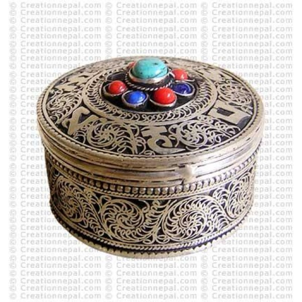 812cddb83 Creation Nepal Filigree-turquoise small jewelry box Handicrafts Clothing,  Dharma ware, jewelry, Fair Trade accessories suppliers