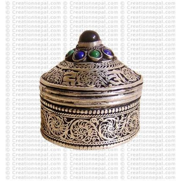Filigree-mantra small jewelry box