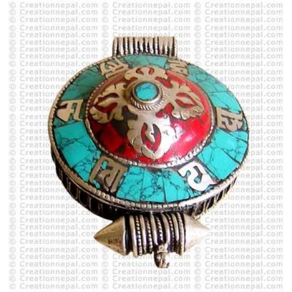 Mantra-dorje white-metal Ghau